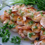 garlicky grilled shrimp skewers