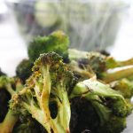 grilled broccoli with chili sauce