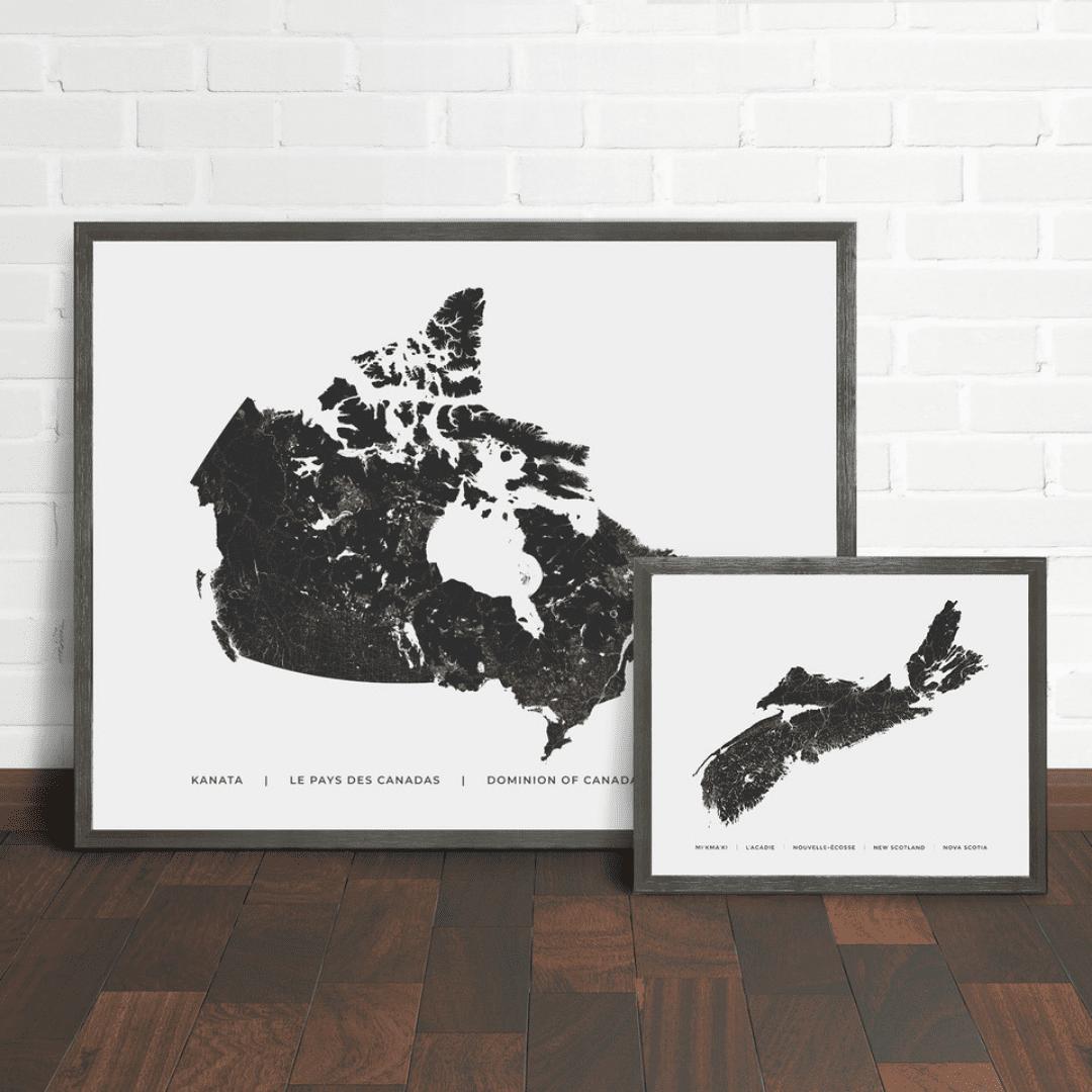 Salt Wreck Map Art Gift